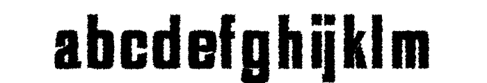 Adyson Distorted Font LOWERCASE
