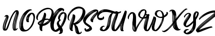 Aesthetic Violet Slant Font UPPERCASE