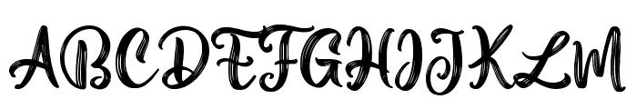Aesthetic Violet Font UPPERCASE