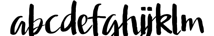 Afinity Font LOWERCASE