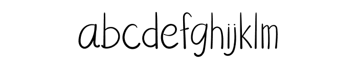 AfterTheRain Font LOWERCASE