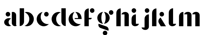 Agory Font LOWERCASE