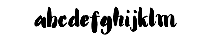 Alanta Script Font LOWERCASE