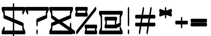 Alaric regular Font OTHER CHARS