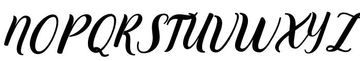 Alexandra-Italic Font UPPERCASE