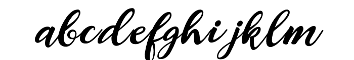 Alexandra-Italic Font LOWERCASE