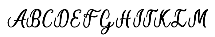 Alice Chater Font UPPERCASE