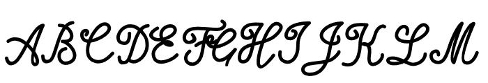Alifia Font UPPERCASE