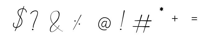 Alinda Font OTHER CHARS