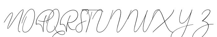 Alinda Font UPPERCASE