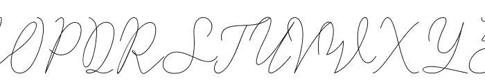Alisha Nahwa Font UPPERCASE