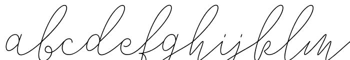 Alisha Nahwa Font LOWERCASE