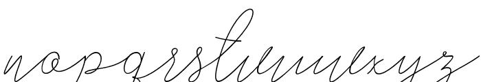 AlishaNahwa Font LOWERCASE