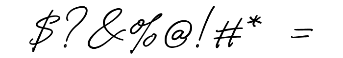 Alistair Signature Font OTHER CHARS