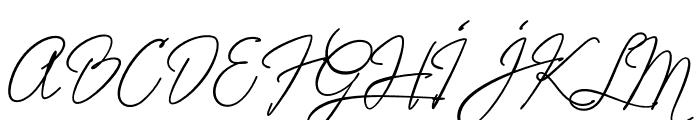 Alistair Signature Font UPPERCASE