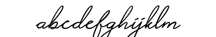 Alistair Signature Font LOWERCASE