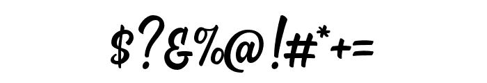 Almonde Script Regular Font OTHER CHARS