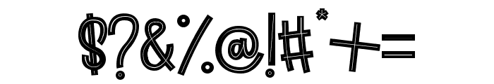 Aloha March line Font OTHER CHARS