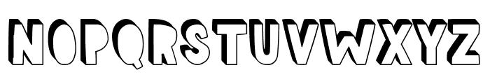 Aloha Shadow Font UPPERCASE