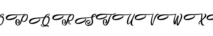 AlohaFriday Font UPPERCASE