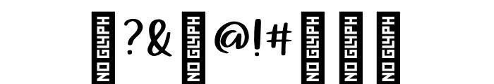 AlohaSummer Regular Font OTHER CHARS