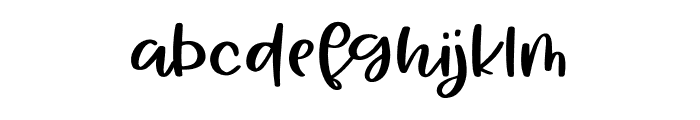 AlohaSummer Regular Font LOWERCASE