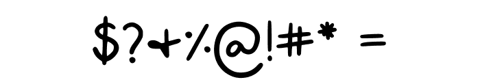 Alyssa Kayla Regular Font OTHER CHARS