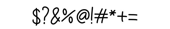 Amazing Wednesday Monoline Font OTHER CHARS