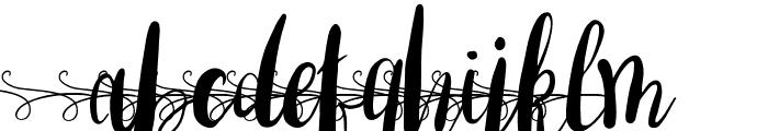 AmberLightFontswirlslowercase-Regular Font UPPERCASE