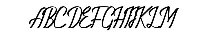 AmeliaNature-Regular Font UPPERCASE