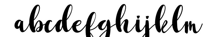 AmiraCalmScript Font LOWERCASE