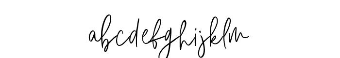 Amirah Brillone Font LOWERCASE