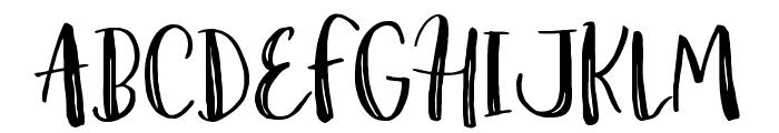 Amist Rough Font UPPERCASE