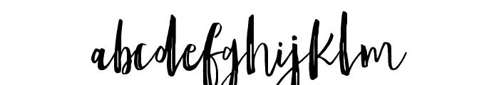 Amist Rough Font LOWERCASE