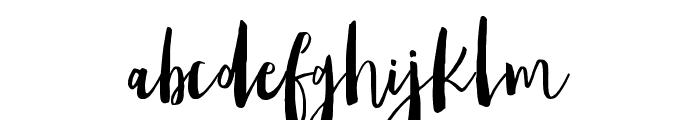 Amist Font LOWERCASE