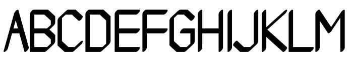 Ammius regular Font UPPERCASE