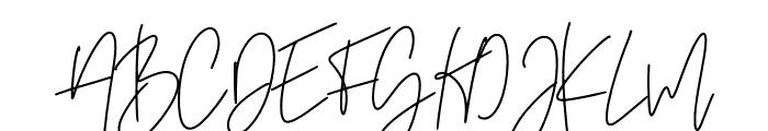 Amsterdam Script Font UPPERCASE