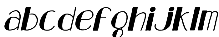 Analeigh Clean Italic Font LOWERCASE