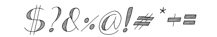 Analeigh Italic Font OTHER CHARS