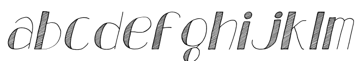 Analeigh Italic Font LOWERCASE