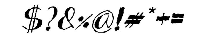 Analeigh Rough Italic Font OTHER CHARS