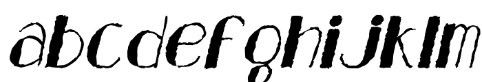 Analeigh Rough Italic Font LOWERCASE