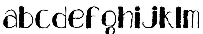 Analeigh Rough Font LOWERCASE