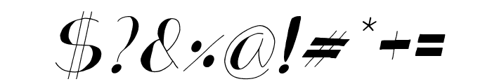 Analeigh Thin Italic Font OTHER CHARS
