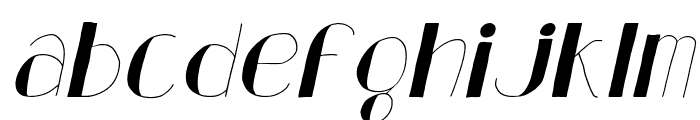 Analeigh Thin Italic Font LOWERCASE