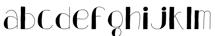 Analeigh Thin Font LOWERCASE