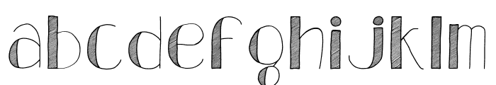 Analeigh Font LOWERCASE