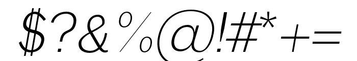 Anastasia light-italic Font OTHER CHARS