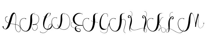 Anastasia Font UPPERCASE