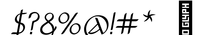 Anchor-Italic Font OTHER CHARS